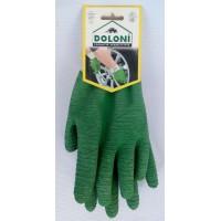 Рукавиці зелені ребристі латекс (Долоні)