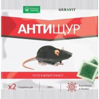 Родентицид Антищур тістова принада (UKRAVIT) 200 г